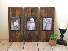 Rustic Wood Frame Picture Frame Set Rustic by MySideOfTheGarage