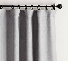 Find Belgian linen curtains from Pottery Barn and dress up your windows in style. Our collection features expertly crafted Belgian linen drapes and window panels. Grey Blackout Curtains, Rod Pocket Curtains, Grommet Curtains, White Curtains, Drapes Curtains, Bedroom Curtains, Curtains Living, Cotton Curtains, Custom Drapes