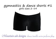 Gymnastics and dance shorts 1 pattern sewing pdf by tumblentwirl