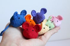 Mesmerizing Crochet an Amigurumi Rabbit Ideas. Lovely Crochet an Amigurumi Rabbit Ideas. Chat Crochet, Crochet Cat Toys, Crochet Mouse, Crochet Amigurumi, Amigurumi Patterns, Crochet Crafts, Crochet Dolls, Yarn Crafts, Easy Crochet