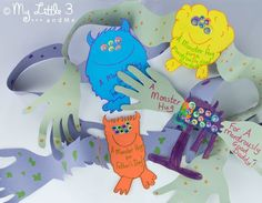 Monster Hugs Fathers Day Cards