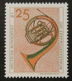 7829 Framed Postage Stamp Art French Horn by PassionGiftStampArt, $13.90