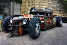 A rat rod is a style of hot rod or custom car that, in most cases, imitates the early hot rods of the & early Rat Rod Trucks, Rat Rod Pickup, Rat Rod Cars, Dually Trucks, Diesel Trucks, Chevy Trucks, Pickup Trucks, Truck Drivers, Big Trucks
