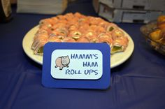Toy Story Party Food - Hams Ham roll ups