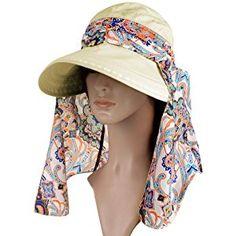 fec0f1998d7 Vbiger Visor Hats Wide Brim Cap UV Protection Summer Sun Hats For Women  (Beige) Dual purpose design
