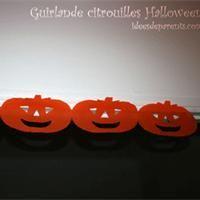 Guirlande Halloween en papier Activité manuelle et bricolage enfant
