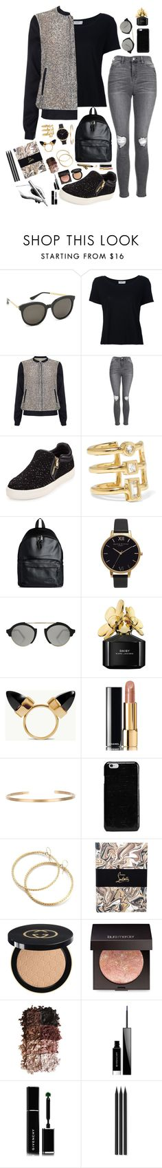"""Untitled #1449"" by style-and-chic-boutique ❤ liked on Polyvore featuring Gentle Monster, Frame Denim, Phase Eight, Topshop, Ash, Elizabeth and James, Eastpak, Olivia Burton, Illesteva and Marc Jacobs"