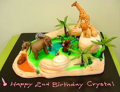 DESIGNER cakes were once the stuff of dream weddings, but competitive parents are spending as much as 2500 on edible creations for kids birthday parties. Zoo Animal Cakes, Africa Cake, My Birthday Cake, Birthday Ideas, Planet Cake, Jungle Cake, Edible Creations, Cupcake Cakes, Kid Cakes