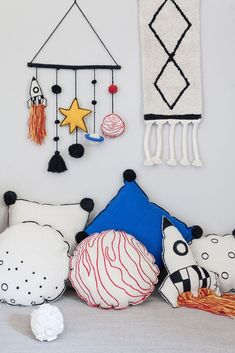 Wall Hanging Galaxy design by Lorena Canals Lorena Canals, Planet For Kids, Small Cushions, Kids Room Paint, Kid Closet, Galaxy Design, Space Theme, Craft Stick Crafts, Boy Room