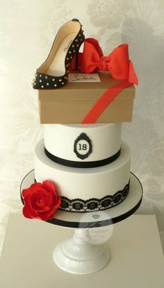 Louboutin Shoe Birthday Cake - by designercakecompany @ http://CakesDecor.com - cake decorating website