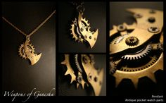 Bold & Strong pendant WEAPONS OF GANESHA by AbsyntheDesign on Etsy, $35.00