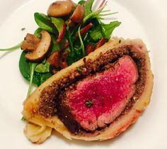 Passion For Food: Beef Wellington, Mushrooms, Spinach Salad
