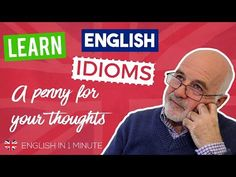 A Penny for Your Thoughts meaning - Learning English Idioms Speak English Fluently, English Idioms, English Vocabulary, Learning English, English Class, English Lessons, Big Coins, Conversational English, English
