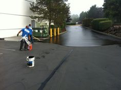 Seal coating project. Contact SMS for a quote.  Superiormaintenancesolutions.com