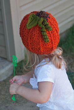 Crochet Pumpkin Beanie Newborn to 5 yrs.