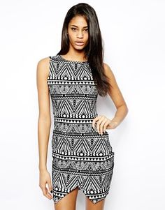 Lipsy Aztec Wrap Dress