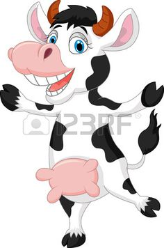 Happy cartoon cow photo