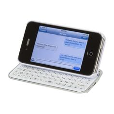 This is neat - for those who 'hate' touchscreen keyboards. Slide & Type for iPhone