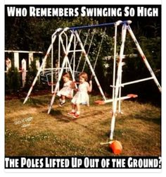 This swing set was the upgrade we asked for and never got, but yes the posts came out of ground regularly