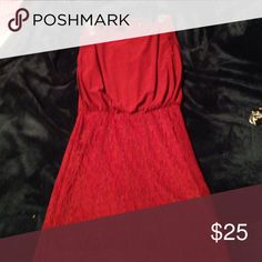 a formal cranberry colored dress. worn once. a beautiful cranberry dress with a lace skirt and open back this is the perfect homecoming dress to wow your date! only been worn once ! City Triangles Dresses Mini