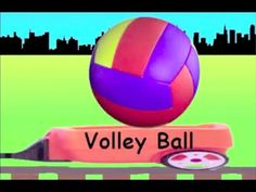 Learn Ball Train - learning ball types for kids - YouTube