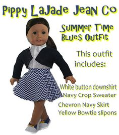 American Girl Doll Clothes18in doll clothes by PippyLaJadeJeanCo