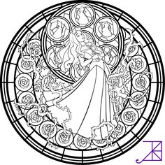 Disney Stained Glass Coloring Pages - Disney Stained Glass Coloring Pages , Tinkerbell Stained Glass Line Art by Akili Amethyst Mandalas Painting, Mandalas Drawing, Mandala Coloring Pages, Coloring Pages To Print, Coloring Book Pages, Coloring Sheets, Disney Princess Coloring Pages, Disney Princess Colors, Disney Colors