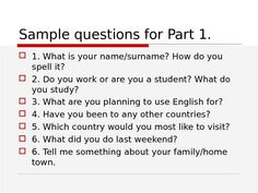 Resultado de imagen para pet speaking part 1 What Is Your Name, Surnames, Spelling, Study, English, How To Plan, This Or That Questions, Studio, Studying