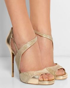 dcd4fc37f4658a JIMMY CHOO Tyne Metallic Leather and Textured-lamé Sandals