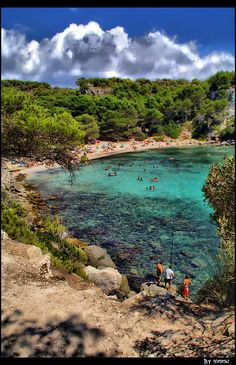 Cala Macarella (Menorca) in Spain. Beautiful Places To Visit, Wonderful Places, Great Places, Oh The Places You'll Go, Places To Travel, Travel Destinations, Dream Vacations, Vacation Spots, Beach Vibes