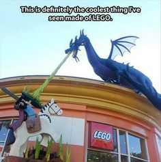Funny pictures about The coolest LEGO creation. Oh, and cool pics about The coolest LEGO creation. Also, The coolest LEGO creation. Legos, Lego Lego, Lego Knights, Lego Sculptures, Amazing Lego Creations, Lego Store, Lego Worlds, Downtown Disney, Lego Projects