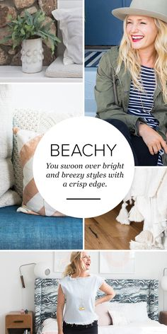 Do your clothes and home decor gravitate towards beachy? Pin this to your own board with #style and #home. Then comment on this pin with the link to your pin-board for a chance to WIN!