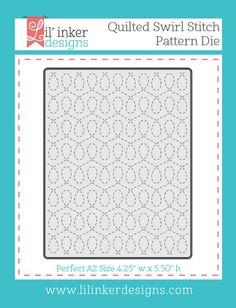 Quilted Swirl Stitched Pattern Die