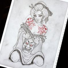 how to draw stitch Japanese Tattoo Symbols, Japanese Drawings, Japanese Tattoo Art, Japanese Tattoo Designs, Japanese Sleeve Tattoos, Geisha Tattoo Design, Sketch Tattoo Design, Tattoo Sketches, Tattoo Drawings