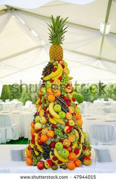 Wedding Fruit Centerpiece & Pin by HappyGroomToBe on Wedding | Pinterest | Fruit displays Food ...