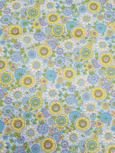 Vintage Multicolor Floral Cotton Fabric 1 Yard 44  Wide Lovely colored yardage.   See photos for actual condition.   No damage.   https://nemb.ly/p/B1y1Yl6vl Happily published via Nembol
