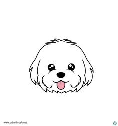Dog Line Drawing, Poodle Drawing, Dog Drawing Simple, Cute Dog Drawing, Bff Drawings, Ink Pen Drawings, Animal Drawings, Mouse Illustration, Cute Cartoon Wallpapers
