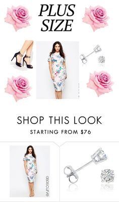 """""""Spring plus size date"""" by riyantha ❤ liked on Polyvore featuring ASOS Curve, Amanda Rose Collection and Little Mistress"""