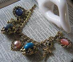 Vintage Chunky Charm Bracelet by maharanis on Etsy, $14.00