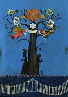 """family trees"" by Olaf Hajek für die MONTBLANC CULTURAL FOUNDATION"