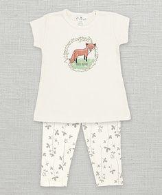 Look what I found on #zulily! Ivory Woodland Wunderland Fox Tee & Leggings - Infant #zulilyfinds