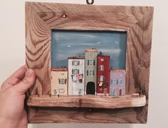 Driftwood Frame, Driftwood Projects, Fun Crafts, Diy And Crafts, Ideas Prácticas, Pallet Crafts, Arte Popular, Miniature Houses, Picture On Wood