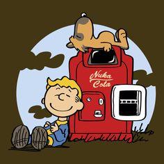Dogmuts Tshirt Print Design by Olipop #fallout #peanuts