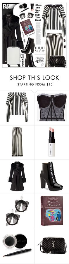 """""""Beetlejuice Inspired: Outfit - Betelgeuse - Handbook for the Recently Deceased"""" by keisha-polyvore ❤ liked on Polyvore featuring Marques'Almeida, D&G, Morgan Lane, Bobbi Brown Cosmetics, Miss Selfridge, Calvin Klein, Fallon, Mary Kay, Yves Saint Laurent and CalPak"""