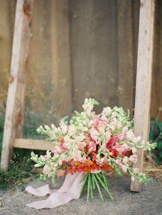 #snapdragon wedding bouquet // photo by Linnea Paulina // flowers by Kae + Ales // view more: http://ruffledblog.com/dahlia-and-snapdragon-floral-arrangements/