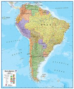 Globes and maps 102952 us and world desk map 5 map pack 13 x 18 globes and maps 102952 waypoint geographic south america 17 laminated wall map gumiabroncs Images