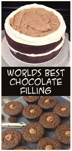 2 ingredients for PERFECT chocolate filling 2 cups heavy whipping cream and a 3 oz box of chocolate pudding mix.