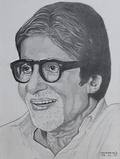 Superstar Amitabh Bachhan created by Shivkumar Menon. The medium of work is Pencil sketch on Paper. Easy Pencil Drawings, Pencil Sketches Of Faces, Pencil Sketch Images, Pencil Sketch Portrait, Pencil Sketch Drawing, Portrait Sketches, Art Drawings Sketches, Horse Drawings, Drawing Art