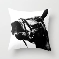 ALFRED THE HORSE Throw Pillow