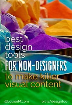 Visual content rules social media! If you're not a designer, check out these top design tools created just for people like you. Forget Photoshop and Illustrator – these easy design tools will have you looking like a pro in no time!